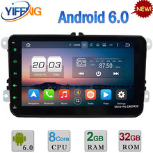 WIFI 3G/4G Android 6.0 2GB+32GB Octa Core 2DIN DAB FM Car DVD Player Radio For Volkswagen Beetle CC Polo Jetta Golf Eos Caddy CC