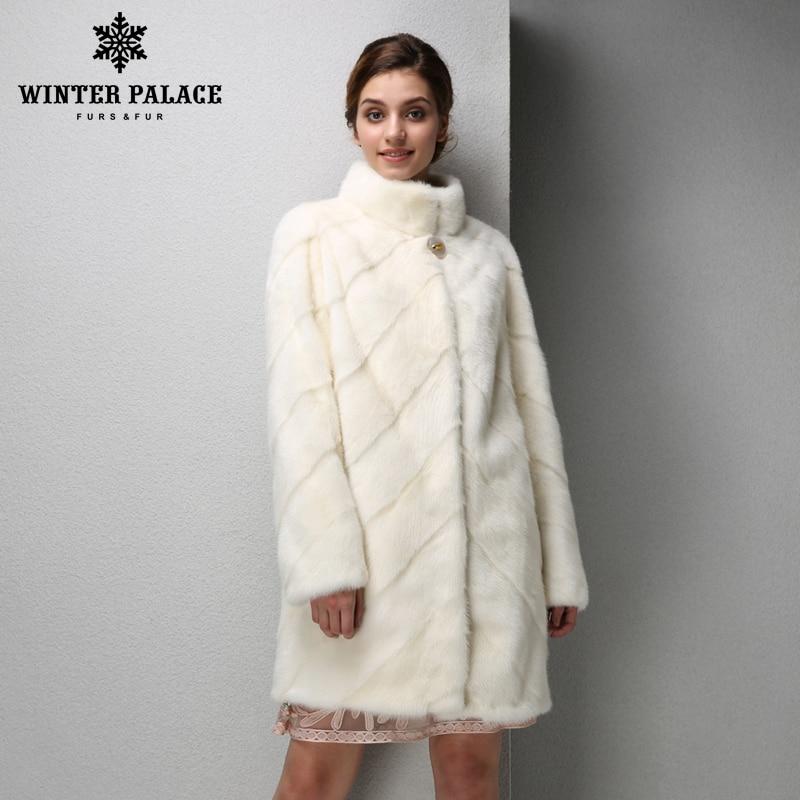 2017 Mode Femmes manteau de vison court en cuir fourrure de vison manteau noir manteau de fourrure Mince manteau de fourrure véritable HIVER PALAIS