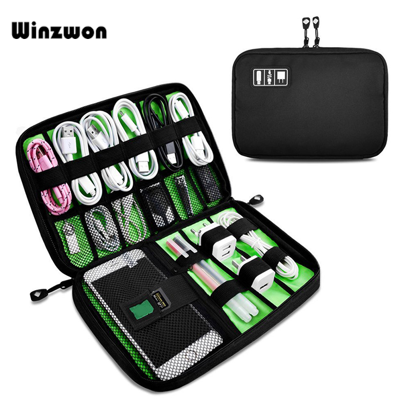 1Pcs Portable Waterproof Earphone Cables USB Flash Drives Storage Bag Travel Organizers For Digital Accessories Storage Case