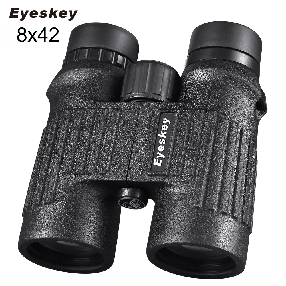Eyeskey Non-slip 8x42 Waterproof Binoculars with Neck Strap Camping Hunting Scopes with Bak4 Prism Powerful Binoculars 8x42 waterproof binoculars 8x42 8561 camping hunting scopes powerful binoculars bird watching telescopes bak4 prism fast shipping