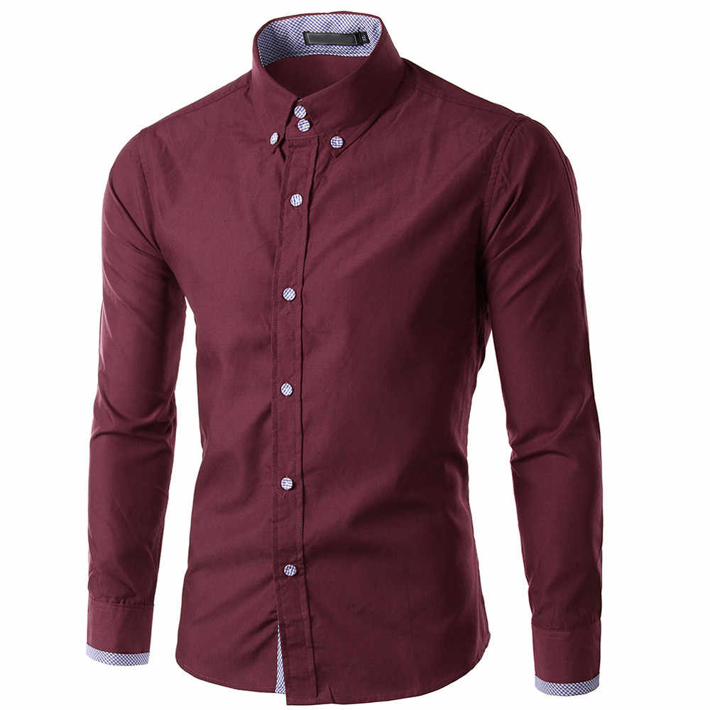 7d53d67c2 2019 New Fashion Brand Camisa Masculina Long Sleeve Shirt Men Korean Slim  Design Formal Casual Male