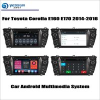 For Toyota Corolla E160 E170 2014 2016 Car Radio CD DVD Player GPS Navigation Android System HD 7 Screen Multimedia