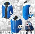 Anime Undertale Sans Jacket Cosplay Cosplay Costume Skeleton Zipper Hooded Hoodies Sweatshirts