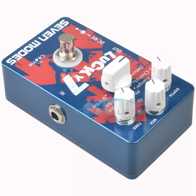 Caline CP-38 guitare électrique effet pédale Lucky 7 accessoires guitare effet pédale véritable dérivation Circuit numérique conception guitare partie