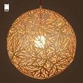 50/60 см деревянный шар коралловый подвесной светильник шнур приспособление Современный японский деревенский стиль подвесной светильник ...