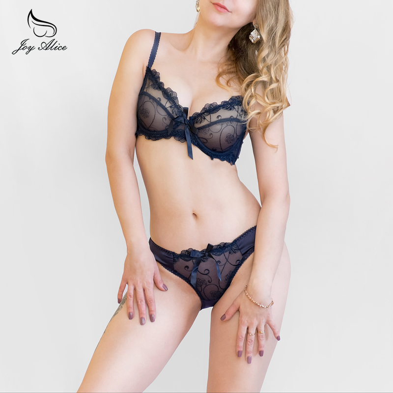 New Lace   Bra     Brief     Sets   Transparent Push Up   Bra     Set   Women thin Underwear Brand Intimates 2018 lace Lingerie   Set