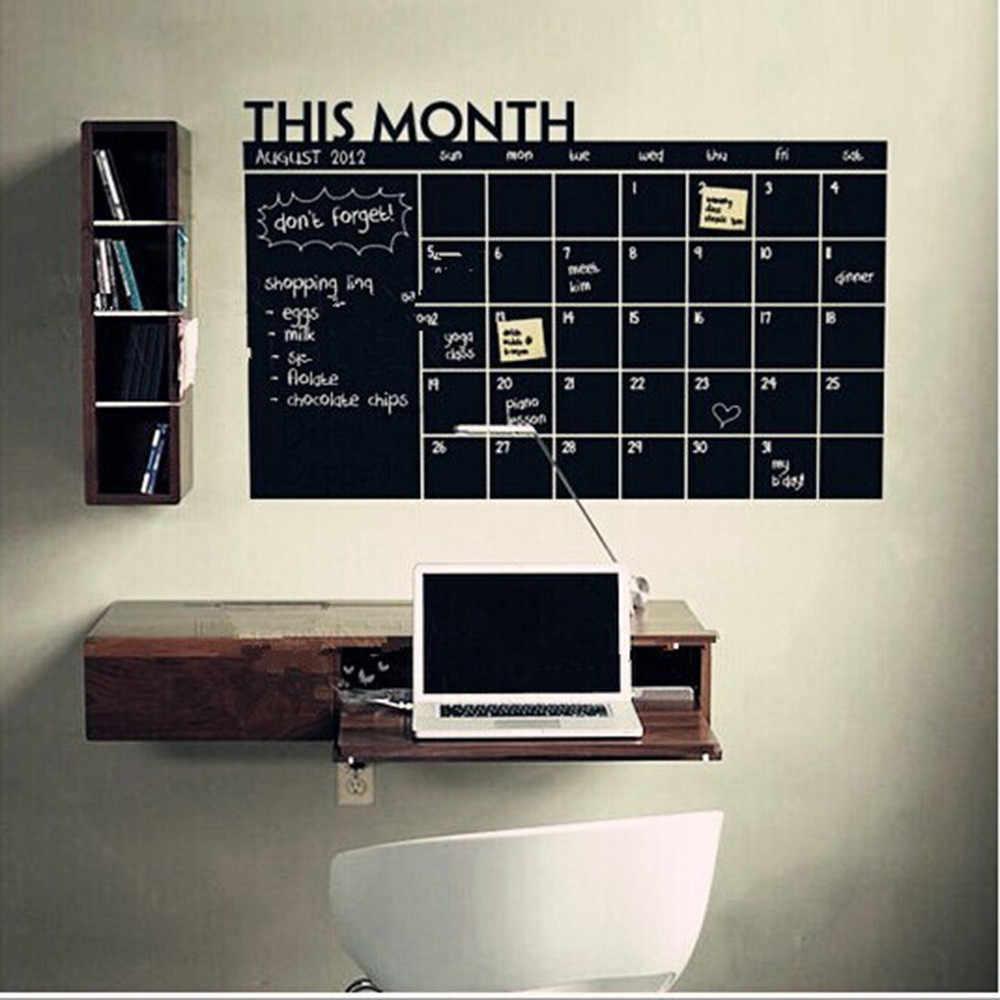 В этом месяце календарь стильный Классная Доска Съемный планировочный настенный стикер на доску офиса школы виниловый стикер стены