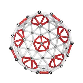 100 pièces Bâtons Magnétiques 50 pcs Boules En Métal Jouets Pour Enfants Blocs De Construction Aimant Accessoires De Construction Jouets Éducatifs