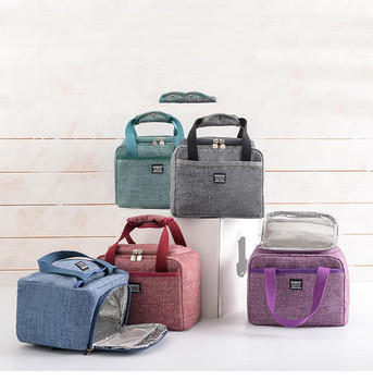 2019 New Lunch Bag Insulated Lunch Box Soft Cooler Bag Waterproof Thermal Work School Picnic Food Storage Bags Keep Fresh