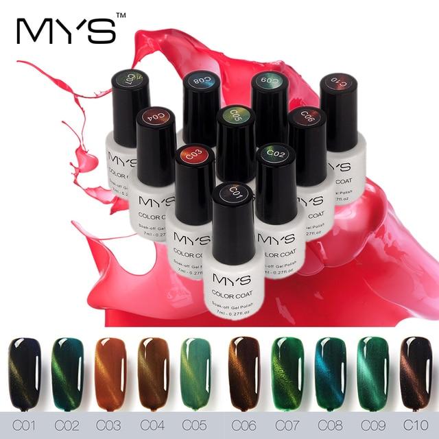 MYS brand 7ml UV LED Gel Cat Eye Gelpolish For Gel Nail Cat Eyes ...