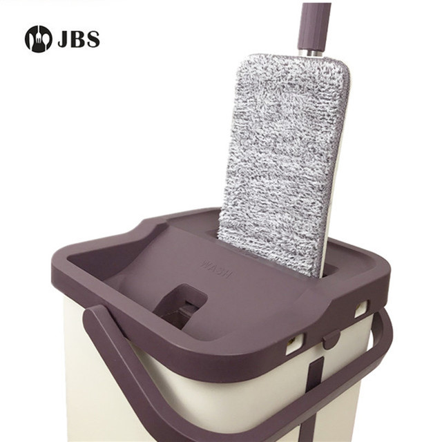 JBS Free Hand Washing Lazy Mop Bucket Magic Cleaner Self-wring Squeeze Double Sided Household Cleaning Automatic Dehydration