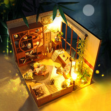 Doll House Furniture Diy Dollhouse Miniature Puzzle Assemble 3d Wooden Miniaturas Dollhouse Educational Toys For Children Gift(China)