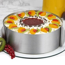 Stainless Steel 6 -10cm Adjustable Cake Mousse Ring 3D Round Cake Mold Cake Decorating Baking Accessories Tools stainless steel 6 10cm adjustable cake mousse ring 3d round cake mold cake decorating baking accessories tools