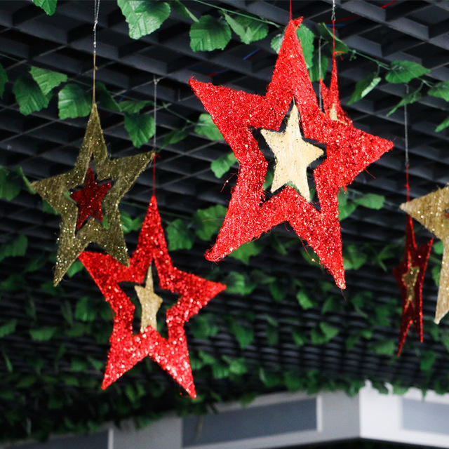 2017 star hanging ornaments hollow glitter star pendant new year 2017 star hanging ornaments hollow glitter star pendant new year christmas holiday wedding decorations birthday party junglespirit Images