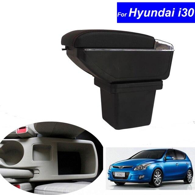 Lederen Auto Middenconsole Armleuningen Opbergdoos voor Hyundai i30 ...