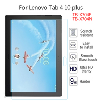 Gehärtetem Glas für Lenovo TAB 4 10 Plus TB-X704N TB-X704F Top HD 9H Screen Protector Film Hard Cover 10 ''Ultra Clear Glas Haut