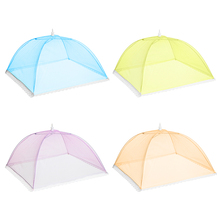 4 Pcs Umbrella Food Covers Tent Set Large Mesh Screen Net Insect-proof Foldable Breathable Kitchen Table Accessories Wigwam