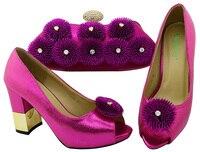 Moda İtalyan Tasarım Yüksek Kaliteli Ayakkabı ve Maç Çanta Afrika Ayakkabı ve Çanta Seti Nijeryalı parti ayakkabı ve BCH-33A