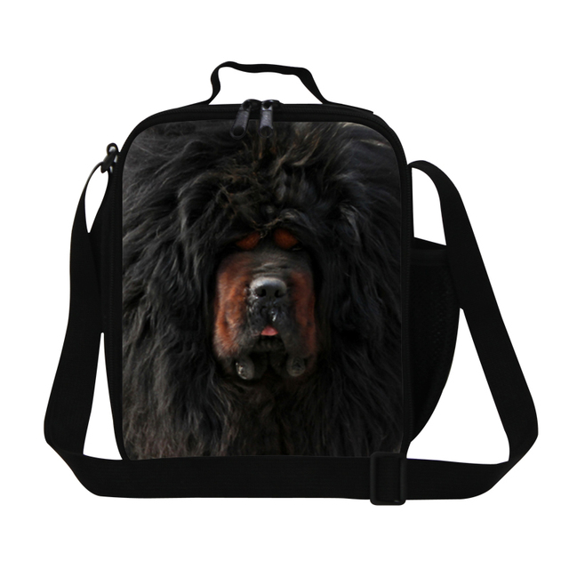 Hot Sale Tibetan mastiff Print Children Lunch Box Causal Personalized Animals Big Dog Lunch Bag Family Lunchbox Thermal Food Bag
