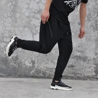 Crazy Promotion Summer Black Personalized Casual Feet Pants Men Punk Trousers Mens Harem Pants Black Fashion