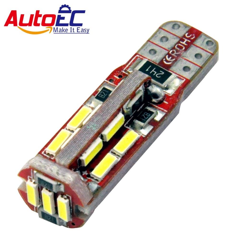 AutoEC 4x T10 w5w 194168 19 leds SMD 4014 Canbus LED libre de errores - Luces del coche