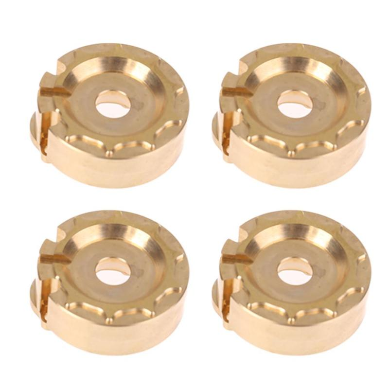 4PCS Brass Counterweight Steering Block Wheel Knuckle Axle Balance Weight for 1/10 RC Traxxas TRX-4 TRX4 Trail Crawler Truck traxxas trx 4 trx4 82056 4 pure copper pendulum wheels knuckle axle rotary type weight 21mm hex adapter set trx4023xx