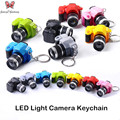 Fancy&Fantasy Creative camera Led keychains With sound LED Flashlight Key chain Fancy toy Key Ring Amazing gift Keychain ZKDF