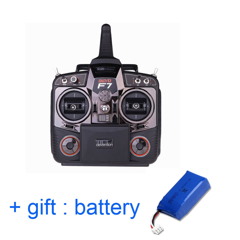 Original Walkera DEVO F7 Transmitter ( with gift: Battery) FPV 7 Channel Transmitter 5.8Ghz Edition DEVO F7 Transmitter walkera devo f12e specialized fpv 32 channel telemetry radio 5 8ghz 12 channel lcd screen free ship