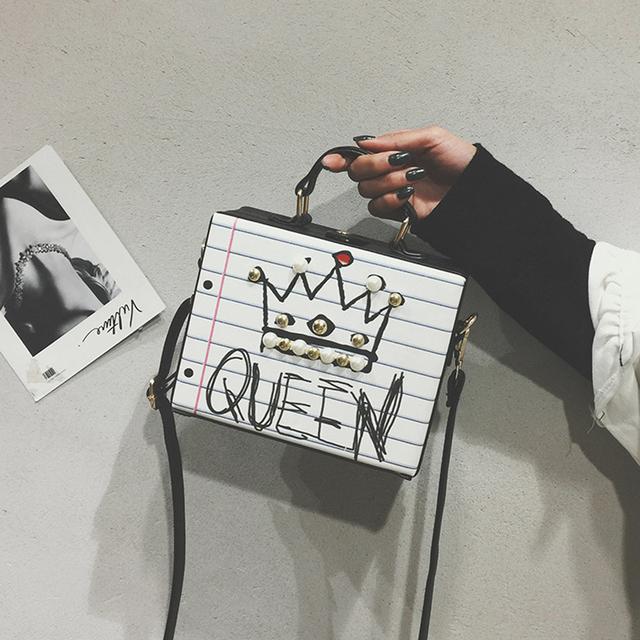 Diamonds Pearl rivet Handbag