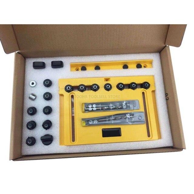 ไม้เครื่องมือ DIY จับประตูจับลูกบิดดึงติดตั้ง Jig และชั้นวาง Pin Jig งานไม้ Hole เปิด Puncher