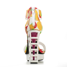 Pink Palms women summer shoes ladies metallic platform shoes sexy high heel sandals party women platform sandals