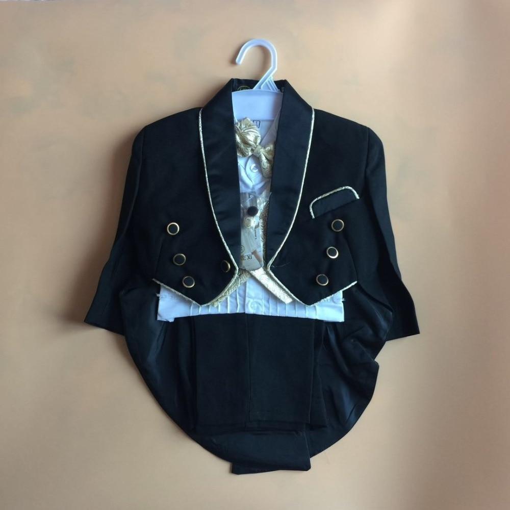 Little Boy Tuxedo/Wedding Party baby Boy Suit/Gentleman Bowtie Baby Boys 5-piece Suit Set 931