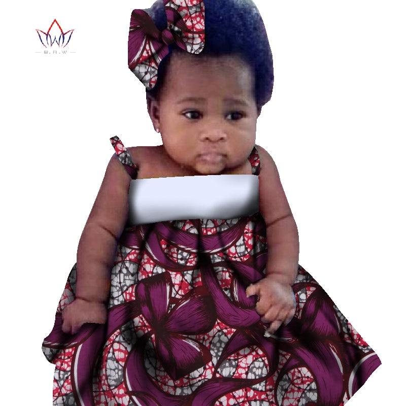 New African Dresses Baby Girl Headwrap Turban African Ethnic Geo Batik Print Head Wrap Headband Bow Trendy Girl Fashion WYD20