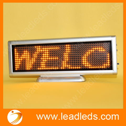 Indoor Yellow Programmable Led Display For Your Shop, Car Use12x48 Dots
