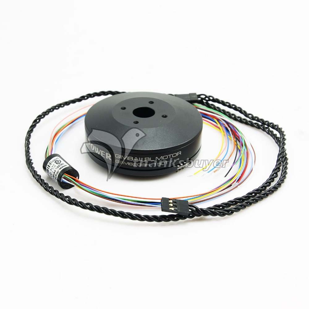 ФОТО iPower GBM6208H-150T Brushless Gimbal Motor Hollow Shaft with Slipring for FPV Photography
