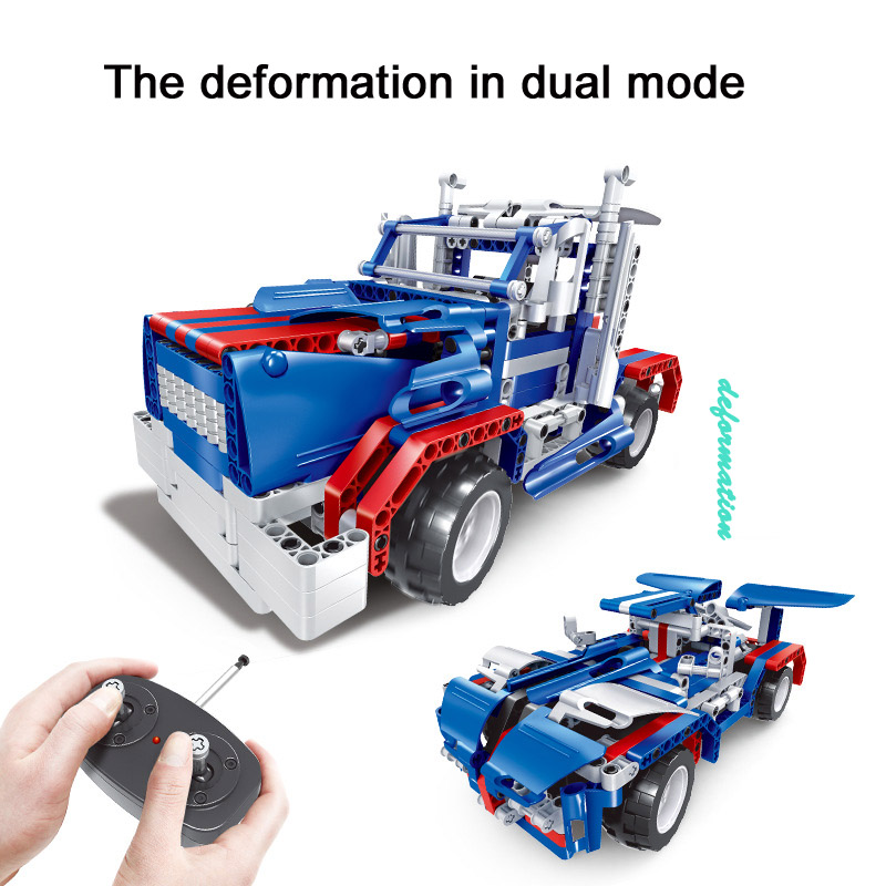 RC Car Drift Science And Technology Puzzle Building Blocks Four Channel Wireless Children Toy blocade ru bun lock children puzzle toy building blocks