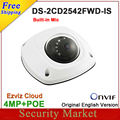 Original english version DS-2CD2542FWD-IS replace DS-2CD2532F-IS 4MP Mini Dome Network CCTV IP Built Mic Camera DS-2CD2542FWD-IS