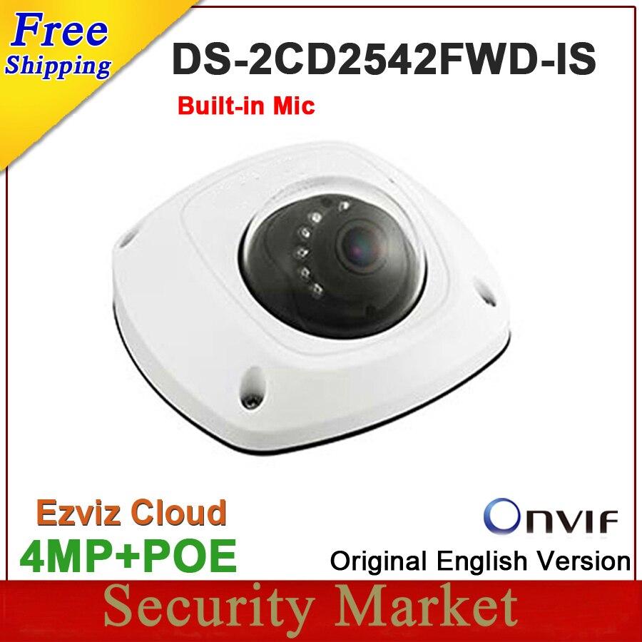 bilder für Ursprüngliche englisch version DS-2CD2542FWD-IS ersetzen DS-2CD2532F-IS 4MP Mini Dome Netzwerk CCTV IP Built Mic Kamera DS-2CD2542FWD-IS