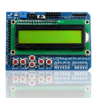 Geetech LCD 1602 Keypad Shield Blue Red Orange Green Backlight LCD 16x2 Characters Display For Arduino