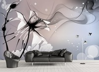 wallpapers for living room Foggy lily modern modern living room wallpapers Home Decoration painting wallpaper