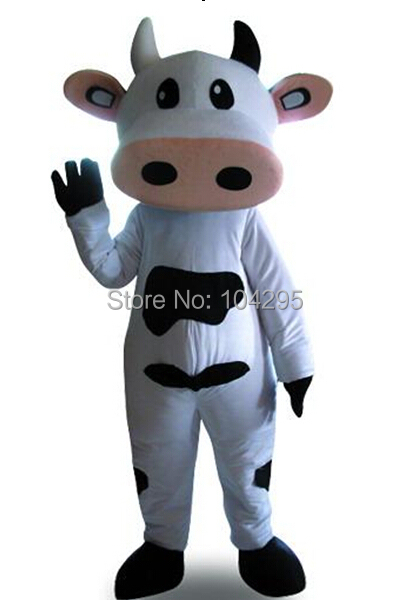 Ohlees pas cher vraies photos de luxe bovins laitiers Toro Bull Betsy vache mascotte costume adulte taille Halloween fête de pâques sur mesure