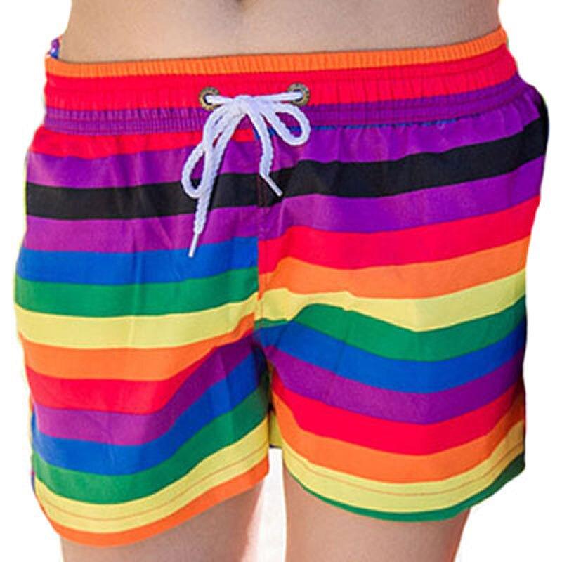H.S.F.Q Men & Women Quick Dry Beach   Shorts   2019 Summer Clothing Swimwears Men's Boardshorts Couples Surf Sport   Board     Shorts