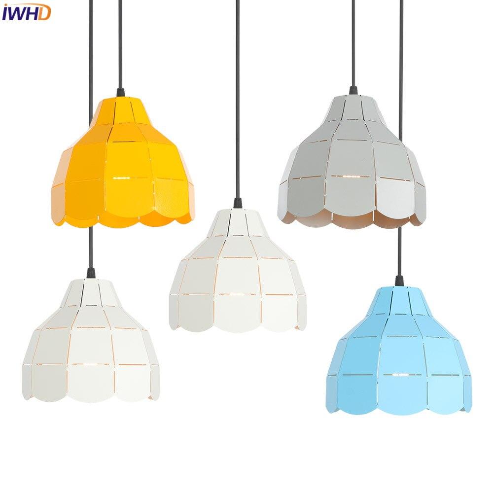 IWHD White Nordic Pendant Lights LED Iron Hollow Hanglamp Retro Loft Hanging Lamp Fixtures For Home Lighting Luminaire SuspenduIWHD White Nordic Pendant Lights LED Iron Hollow Hanglamp Retro Loft Hanging Lamp Fixtures For Home Lighting Luminaire Suspendu