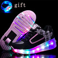 Shoe De Rodinha Size27-43 Led Children Shoes with wheels Luminous sneakers Girls Boys Roller Skate Shoes For Kids