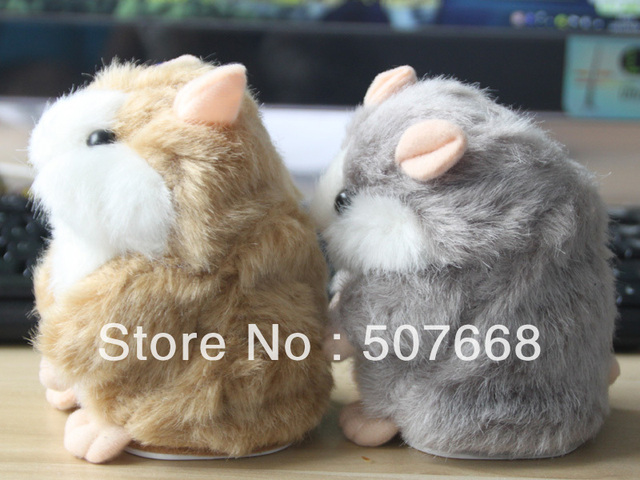 Free Shipping Set of 2 Tomy Hamster talking Plush Animal Toy Electronic A Talking Hamster Toys Doll