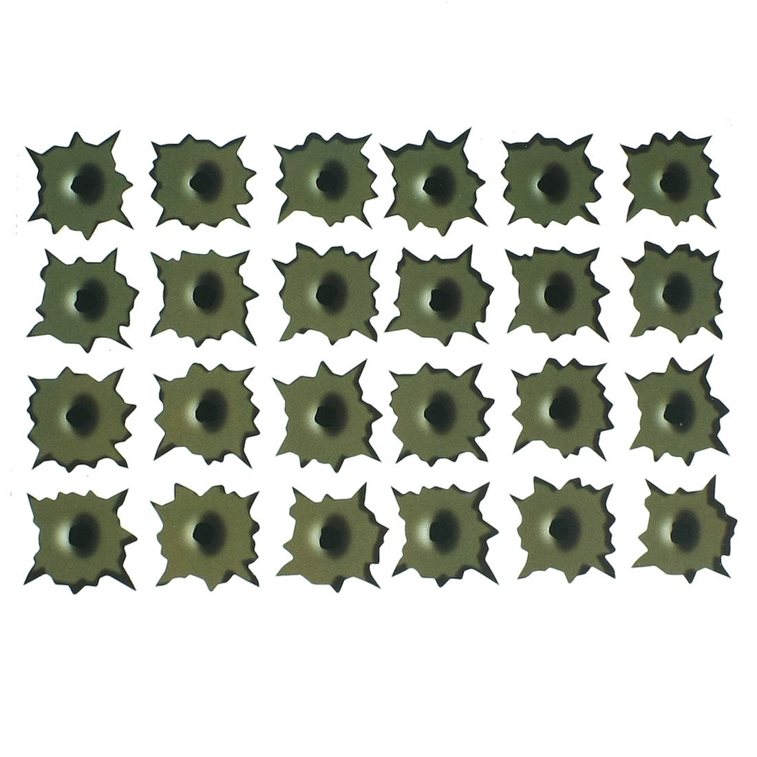 Army Green Paper Made Seismic 24 Holes Car Decal Sticker
