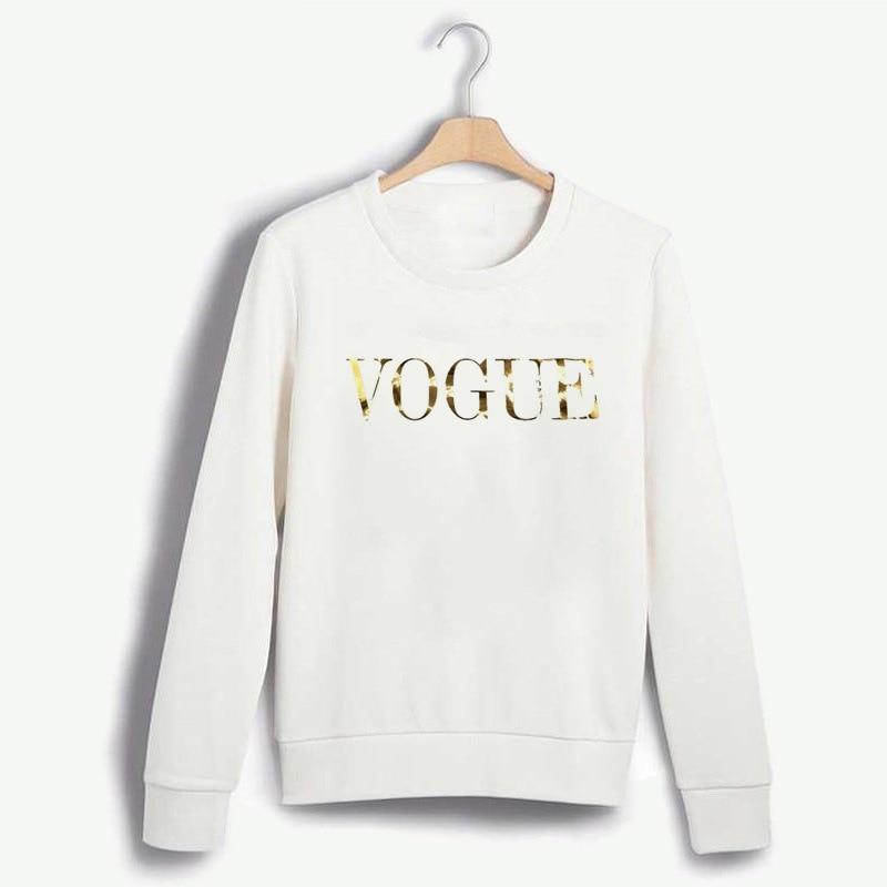 2020 New VOGUE Women Printed  Sweatshirt Long Sleeve O Neck Jumper Pullover Tops Autumn Winter Femme Loose Pullover Hoodies