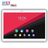 10 inç tablet PC Octa Çekirdek Android 7.0 4 GB RAM 64 GB ROM 8 çekirdek Çift SIM Kart GPS Bluetooth Çağrı telefon Hediyeler MID tablet 10 10.1