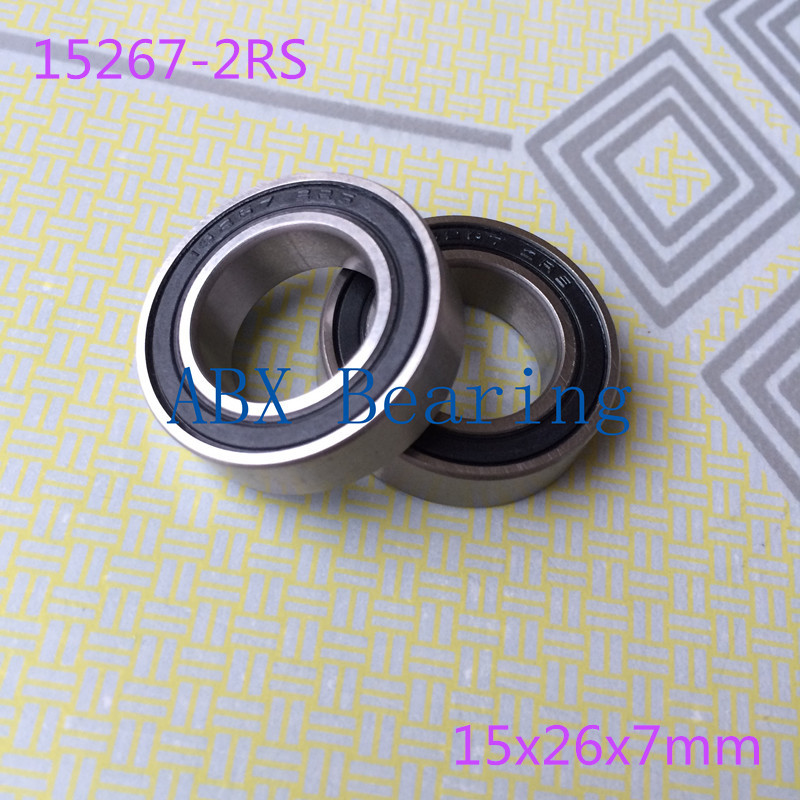Free shipping 10pcs 15267-2RS GCR15 ball bearing 15x26x7mm 15267 RS bike wheels bottom bracket repair bearing MR15267 цена и фото