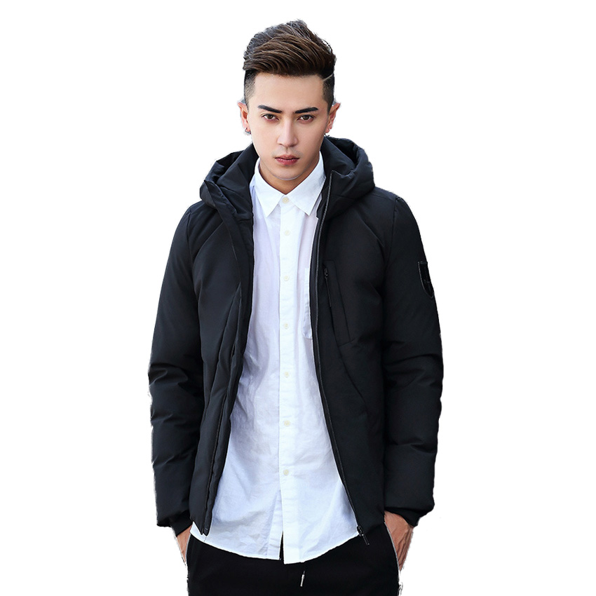Free Shipping 2017 Winter Mens White Down Jacket Mens Thickening Short Coat Out Of The New Student Coat CXY218